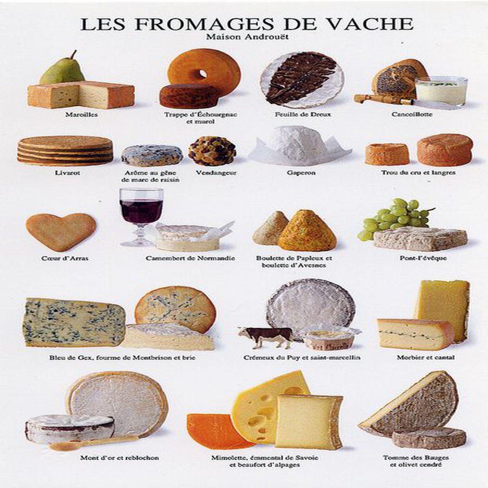 les diff u00e9rentes vari u00e9t u00e9s de fromages de vache